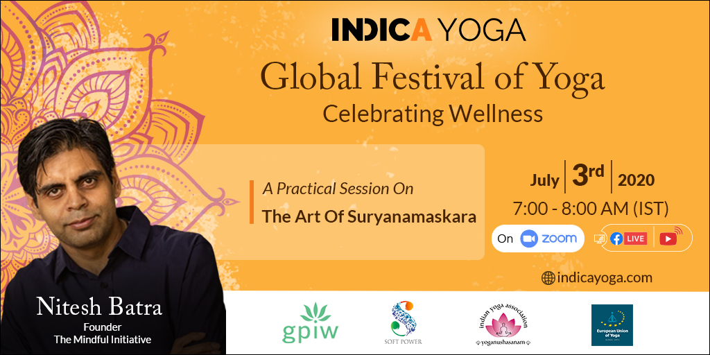 Day 13 Session 01: A Practical Session On The Art Of Suryanamaskara by Nitesh Batra